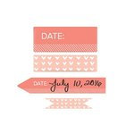 We R Memory Keepers - Washi Chomper - Washi Tape - Day and Time - Coral