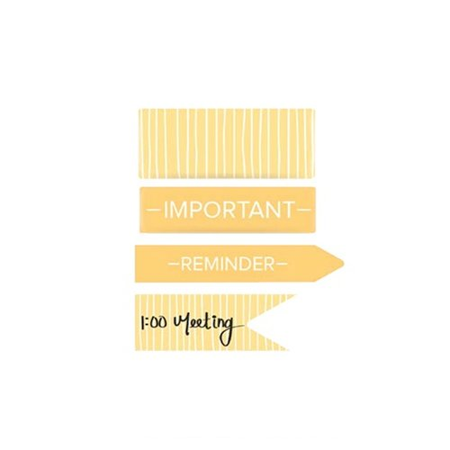 We R Memory Keepers - Washi Chomper - Washi Tape - Reminders - Yellow