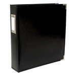 We R Memory Keepers - Classic Leather - 8.5 x 11 - 3-Ring Album - Black