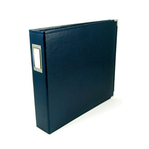 We R Memory Keepers - Classic Leather - 8.5 x 11 - Three Ring Albums - Navy