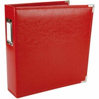 We R Memory Keepers - Classic Leather - 8.5 x 11 - 3-Ring Album - Red