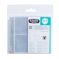We R Memory Keepers - 4 x 4 Photo Sleeves -2 x 2 Pockets - 10 Pack