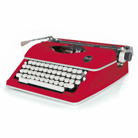 We R Memory Keepers - Typecast Collection - Typewriter - Red