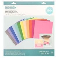We R Memory Keepers - ShotBox Collection - Color Backgrounds - 12 Pack
