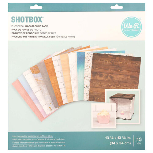 We R Memory Keepers - ShotBox Collection - Photoreal Backgrounds - 12 Pack