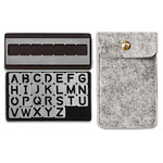 We R Memory Keepers - Journal Studio Collection - Magnetic Alphabet Stencils