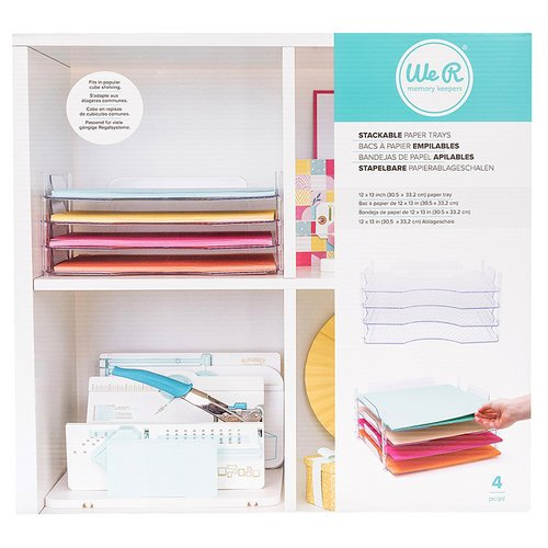 We R Memory Keepers - Stack and Nest Paper Trays - 4 Pack