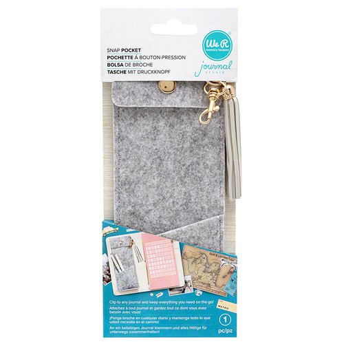 We R Memory Keepers - Journal Studio Collection - Felt Snap Pocket