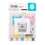 We R Memory Keepers - Stamp Kit - CMYK - Typewriter