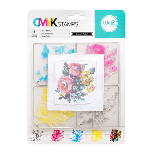 We R Memory Keepers - Stamp Kit - CMYK - Rose