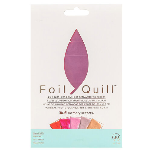 We R Memory Keepers - Foil Quill - Foil Sheets - 4 x 6 - Flamingo