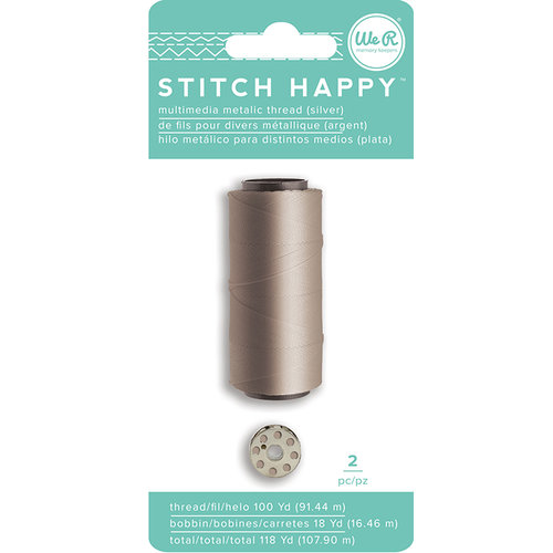 We R Memory Keepers - Stitch Happy Collection - Thread - Metallic - Silver