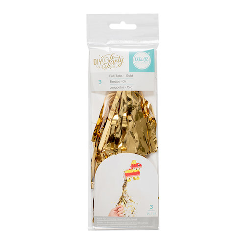 We R Memory Keepers - DIY Party Collection - Mini Pinata - Pull Tab - Gold - 3 Pack
