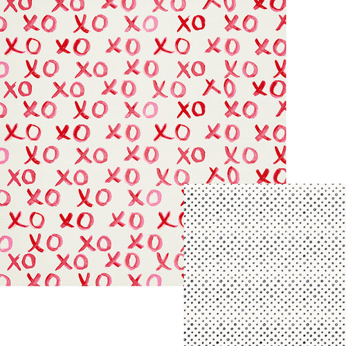 We R Memory Keepers - Crush Collection - 12 x 12 Double Sided Paper - XOXO