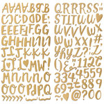 We R Memory Keepers - Crush Collection - Thickers - Gold Foil - Alphabet