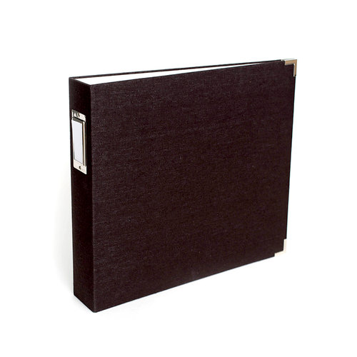 We R Memory Keepers - Linen Album - 12 x 12 D-Ring - Black