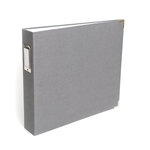 We R Memory Keepers - Linen Album - 12 x 12 D-Ring - Gray