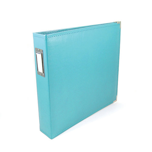 We R Memory Keepers - Classic Leather - 12 x 12 - 3-Ring Album - Aqua