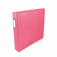 We R Memory Keepers - Classic Leather - 12 x 12 - 3-Ring Album - Strawberry