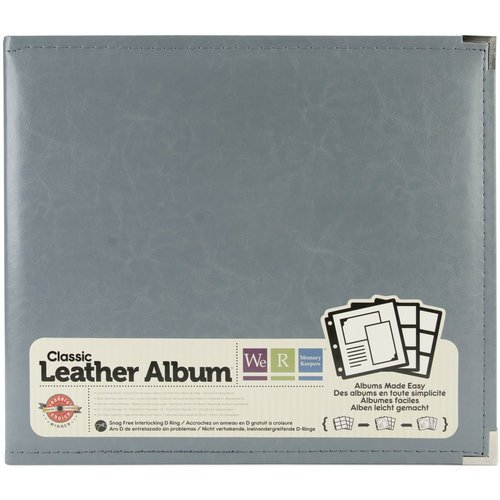 We R Memory Keepers - Classic Leather - 12 x 12 - Three Ring Albums - Charcoal