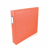We R Memory Keepers - Classic Leather - 12 x 12 - 3-Ring Album - Coral