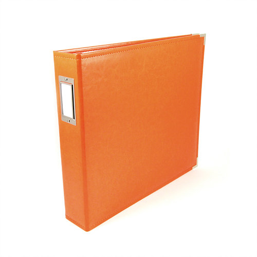 We R Memory Keepers - Classic Leather - 12 x 12 - 3-Ring Album - Orange Soda