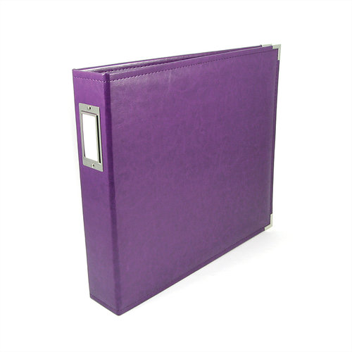 We R Memory Keepers - Classic Leather - 12 x 12 - 3-Ring Album - Grape Soda