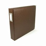 We R Memory Keepers - Classic Leather - 12 x 12 - 3-Ring Album - Dark Chocolate