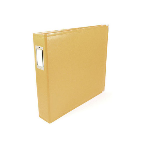 We R Memory Keepers - Classic Leather - 12 x 12 - Three Ring Albums - Buttercup
