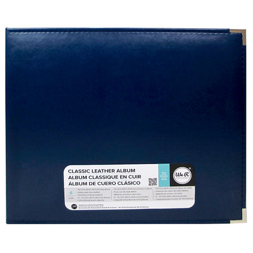 We R Memory Keepers - Classic Leather - 12 x 12 - Three Ring Albums - Cobalt