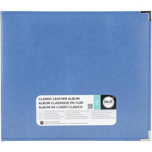 We R Memory Keepers - Classic Leather - 12 x 12 - Three Ring Albums - Country Blue