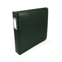 We R Memory Keepers - Classic Leather - 12 x 12 - 3-Ring Album - Forest Green