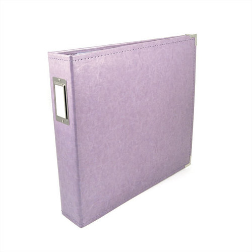 We R Memory Keepers - Classic Leather - 12 x 12 - Three Ring Albums - Lilac
