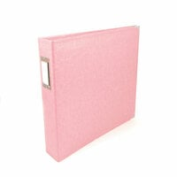We R Memory Keepers - Classic Leather - 12 x 12 - 3-Ring Album - Pretty Pink