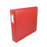 We R Memory Keepers - Classic Leather - 12 x 12 - 3-Ring Album - Real Red