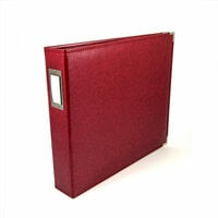 We R Memory Keepers - Classic Leather - 12 x 12 - 3-Ring Album - Wine