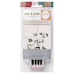 We R Memory Keepers - Ruler Studio Collection - Folded Rulers - 6 Inches - White