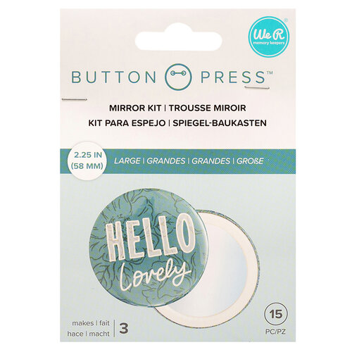 We R Memory Keepers - Button Press Collection - Button Backer - Adhesive Mirrors