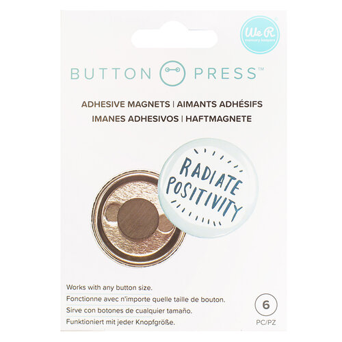 We R Memory Keepers - Button Press Collection - Button Backer - Adhesive Magnets