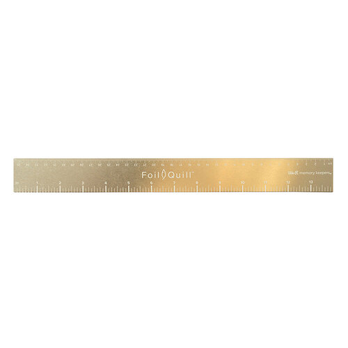 We R Memory Keepers - Tools - Foil Quill - Gold Magnetic Ruler