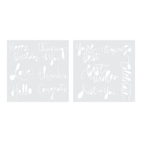 We R Memory Keepers - Foil Quill - Freestyle - Stencils - Sentiments