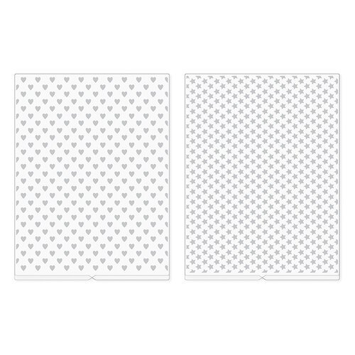 We R Memory Keepers - Revolution - Embossing Folder - Hearts and Stars