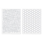 We R Memory Keepers - Revolution - Embossing Folder - Woven and Honeycomb