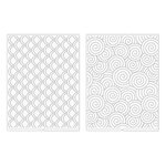 We R Memory Keepers - Revolution - Embossing Folder - Swirls and Scallops