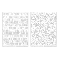 We R Memory Keepers - Revolution - Jen Hadfield - Embossing Folder