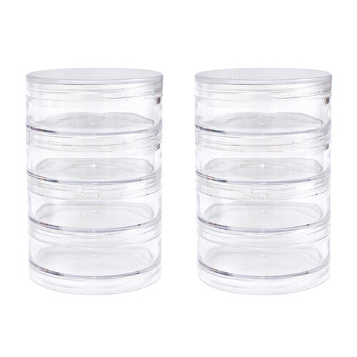 We R Memory Keepers - Storage Bottles - Large Screw Stack Jars - 8 Pack