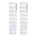 We R Memory Keepers - Storage Bottles - Small Screw Stack Jars - 16 Pack