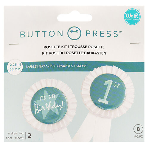 We R Memory Keepers - Button Press Collection - Button Backer - Rosette Backer