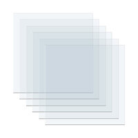 We R Memory Keepers - Mold Press Collection - Plastic Sheets - Clear - 6 Pack