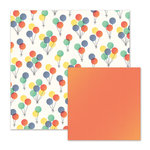 We R Memory Keepers - Cakes and Candles Collection - 12 x 12 Double Sided Paper - Balloons